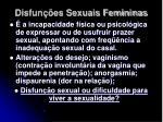 disfun es sexuais femininas