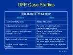 dfe case studies181