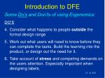 introduction to dfe13
