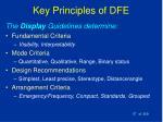 key principles of dfe37
