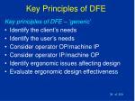 key principles of dfe39