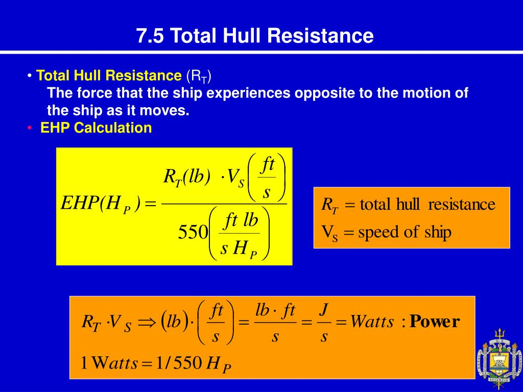 PPT - Chap 7 Resistance and Powering of Ship PowerPoint