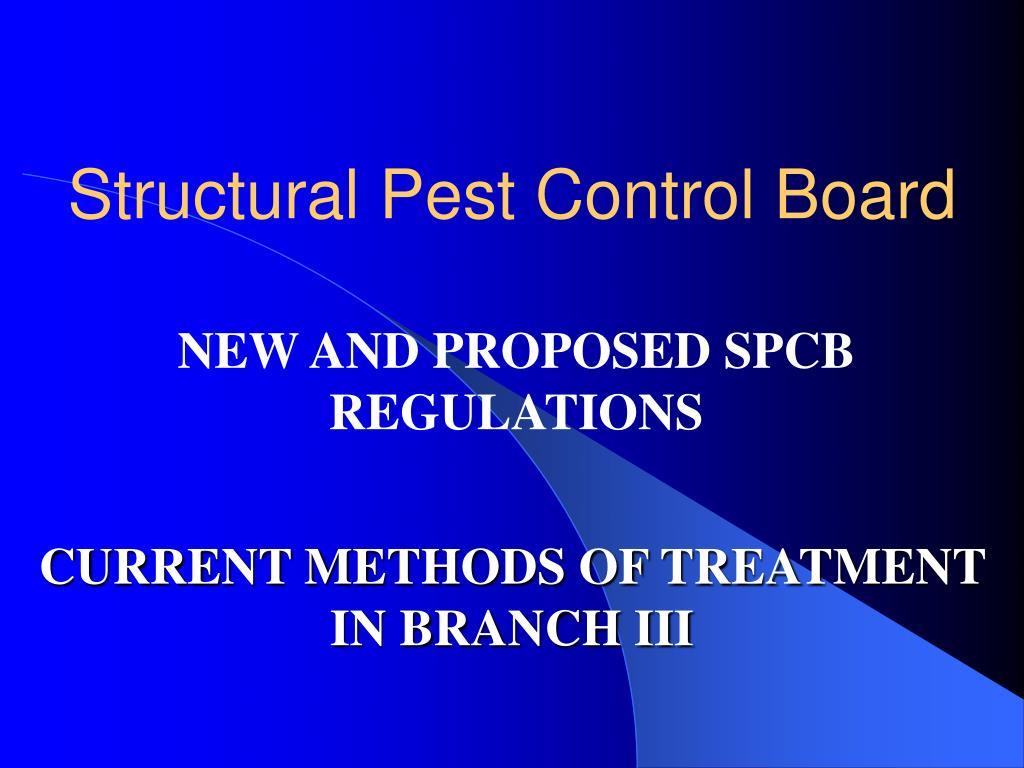 structural pest control board l.