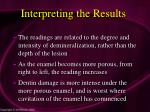 interpreting the results84