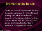 interpreting the results86