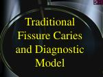 traditional fissure caries and diagnostic model