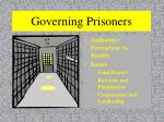 governing prisoners