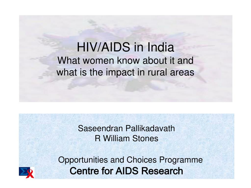 HIV/AIDS in India: