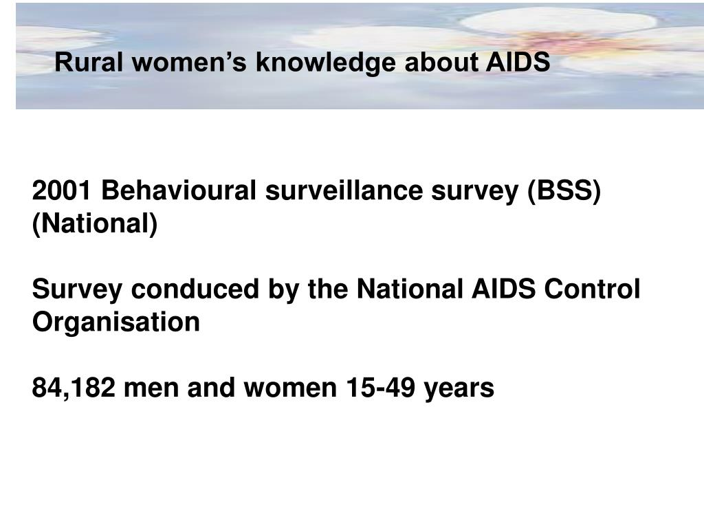 Rural women's knowledge about AIDS