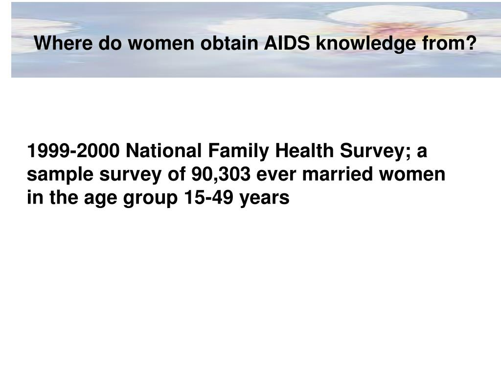 Where do women obtain AIDS knowledge from?