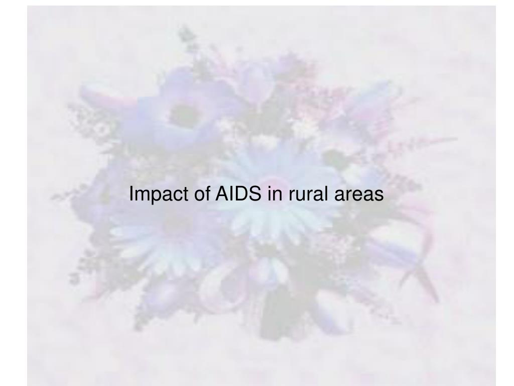 Impact of AIDS in rural areas