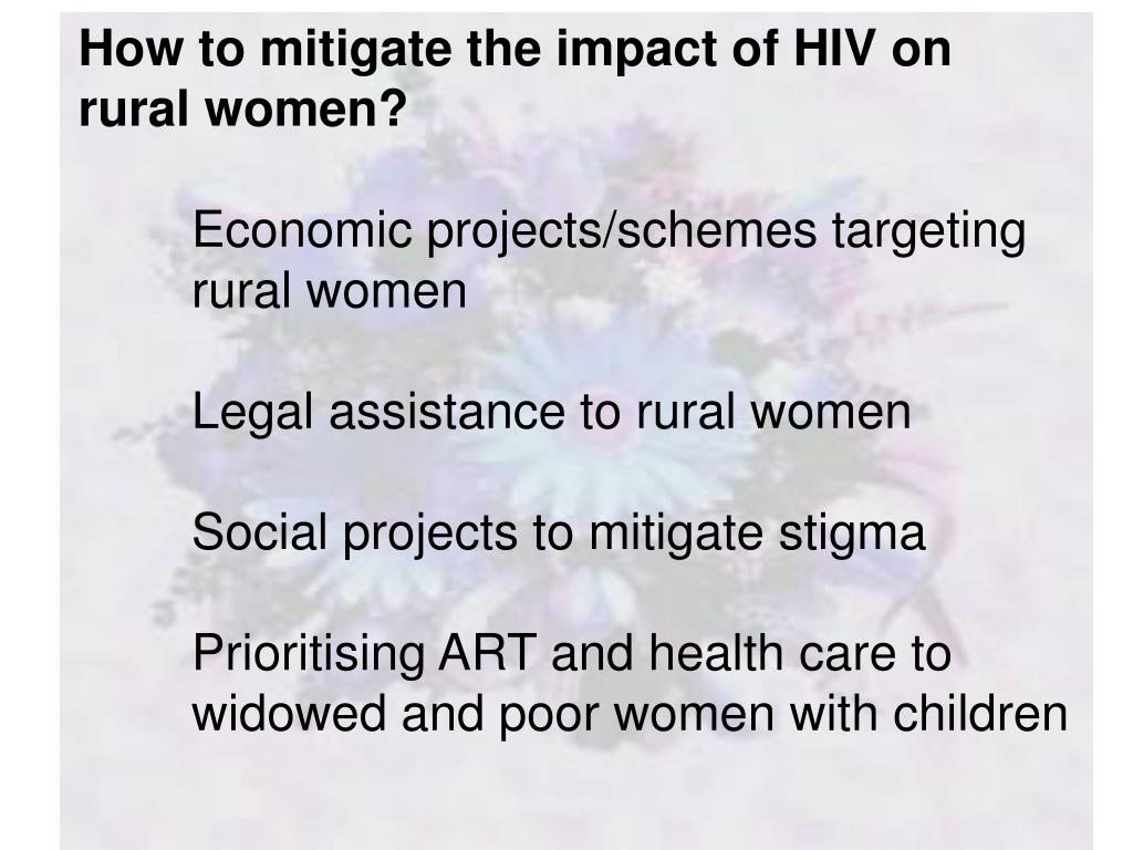 How to mitigate the impact of HIV on rural women?