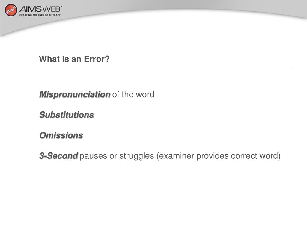 What is an Error?