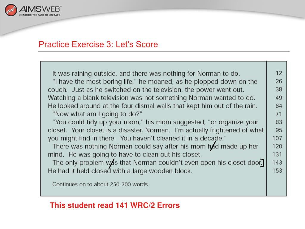 Practice Exercise 3: Let's Score