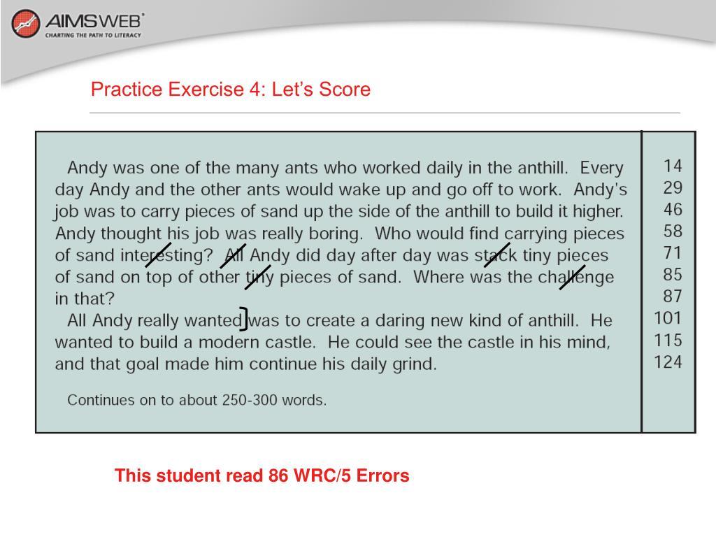 Practice Exercise 4: Let's Score