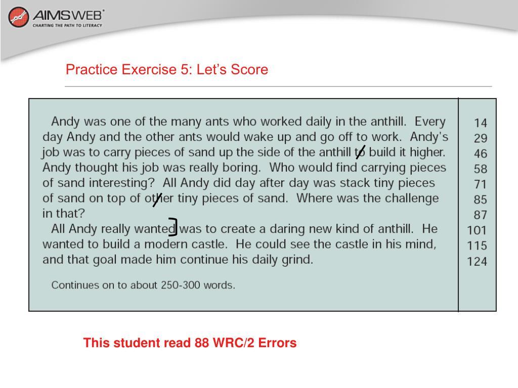 Practice Exercise 5: Let's Score