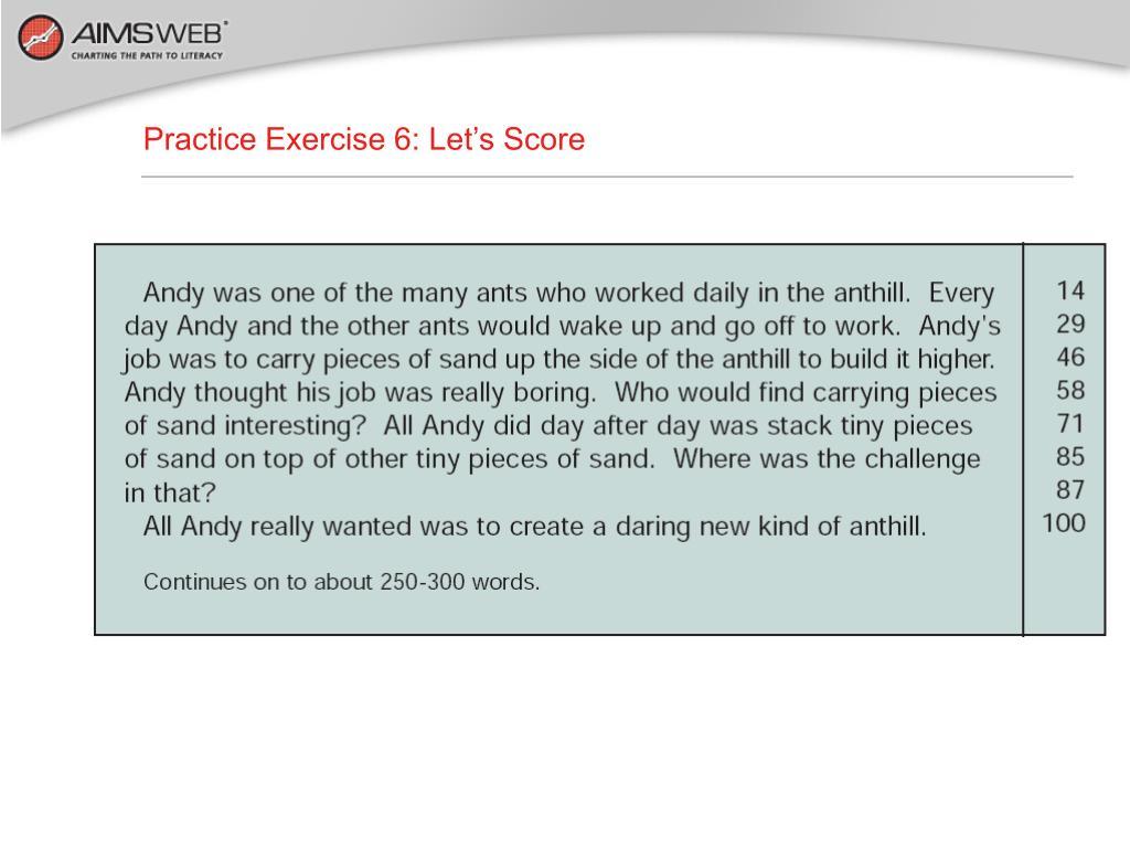 Practice Exercise 6: Let's Score