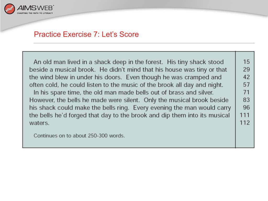 Practice Exercise 7: Let's Score