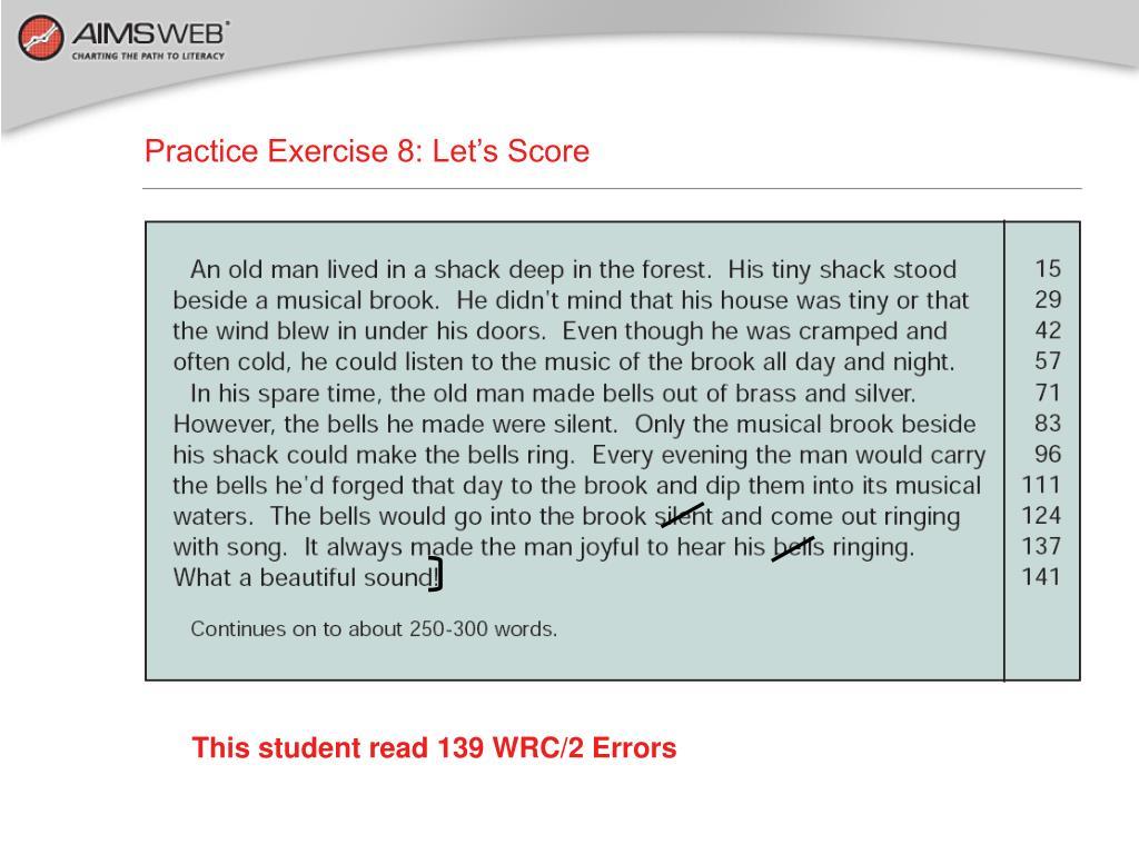 Practice Exercise 8: Let's Score