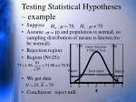 testing statistical hypotheses example