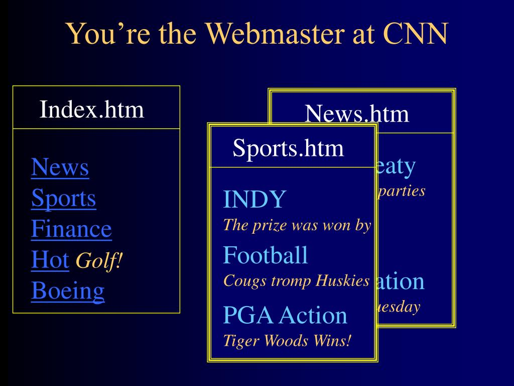 you re the webmaster at cnn l.