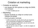 cr ation et marketing