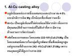 1 al cu casting alloy