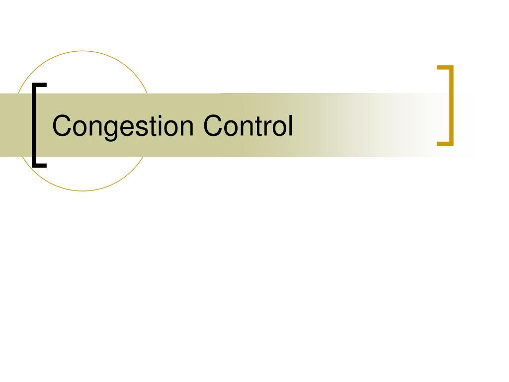 congestion control l.