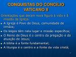 conquistas do conc lio vaticano ii