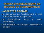tarefa evangelizadora da diocese de rondon polis