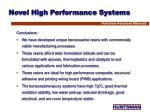 novel high performance systems