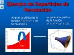 ejemplo de superficies de revoluci n