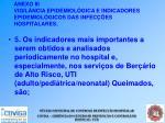 anexo iii vigil ncia epidemiol gica e indicadores epidemiol gicos das infec es hospitalares43