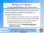 medidas de controle e avalia o melhoria dos processos64