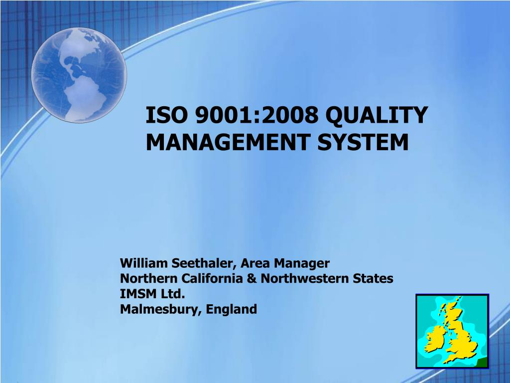 iso 9001 2008 quality management system l.