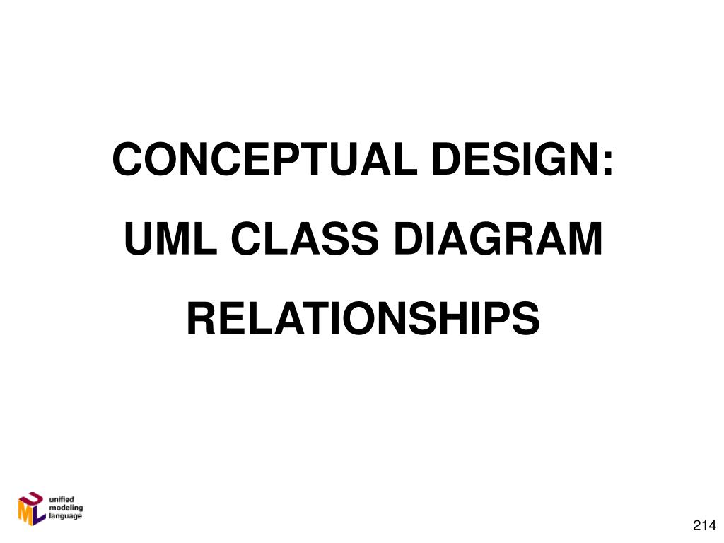 conceptual design uml class diagram relationships l.
