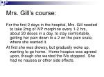 mrs gill s course