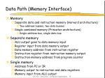 data path memory interface