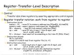 register transfer level description