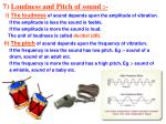 7 loudness and pitch of sound