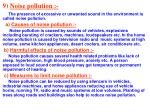 9 noise pollution