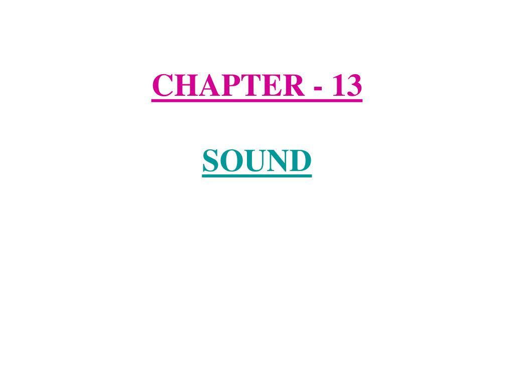 chapter 13 sound l.