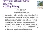 jerry crail johnson earth sciences and map library