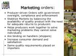 marketing orders
