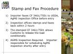 stamp and fax procedure