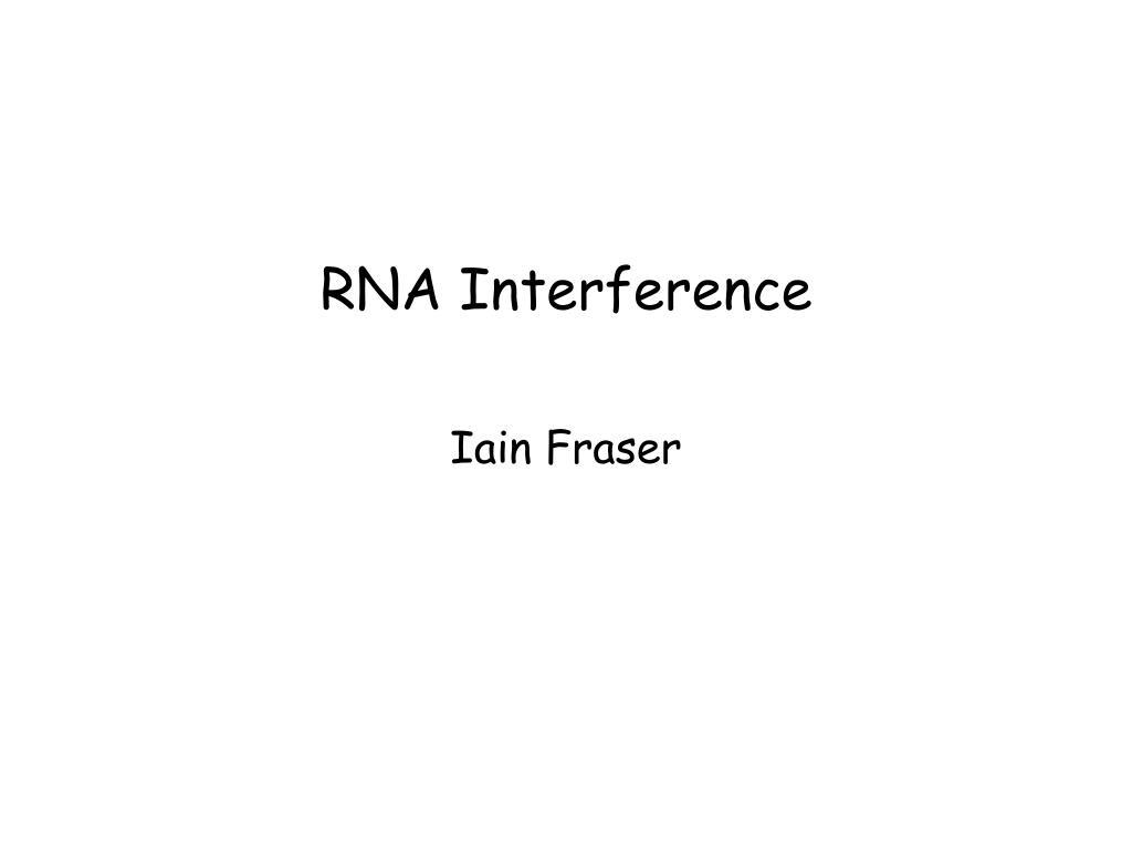 rna interference l.