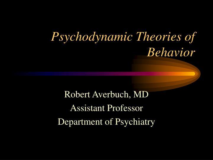 psychodynamic theories of behavior n.
