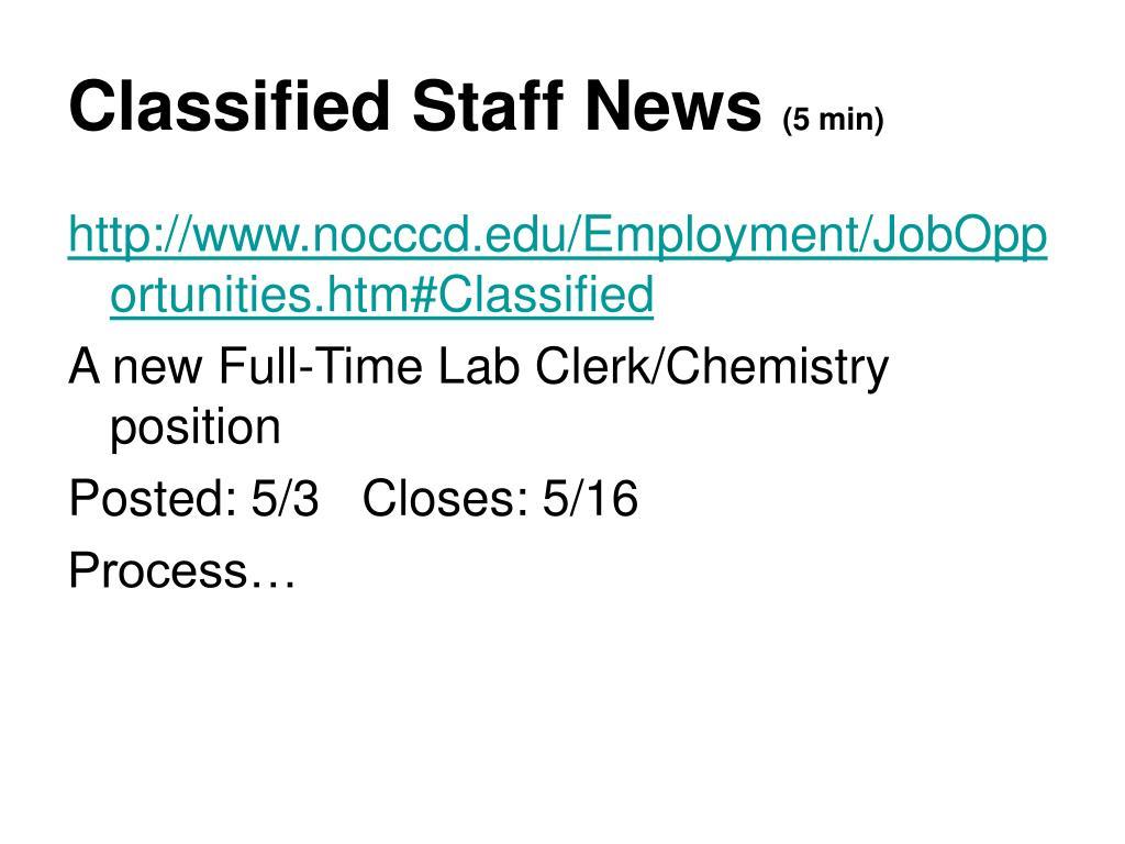 Classified Staff News