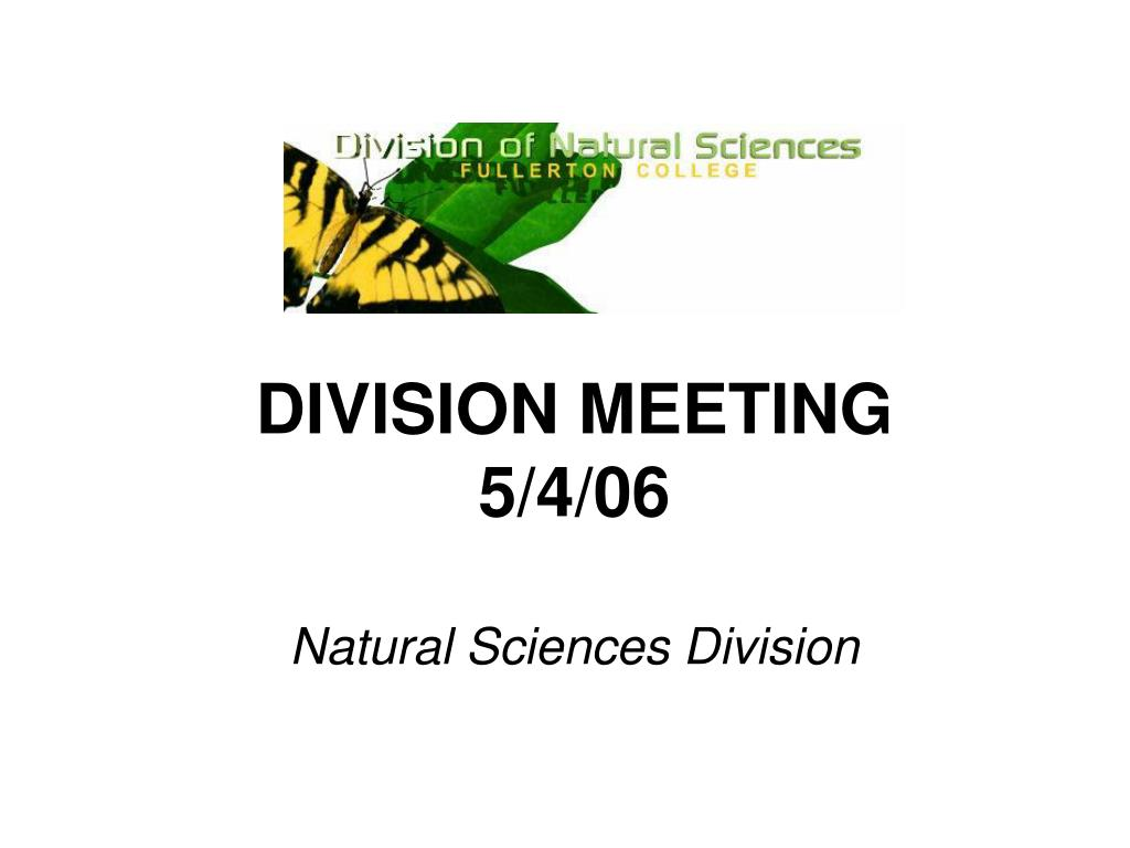 DIVISION MEETING