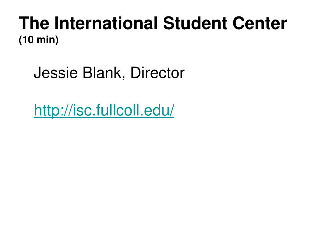 The International Student Center